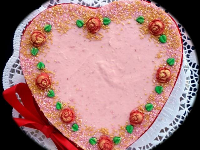 Himbeerherz zum Valentinstag